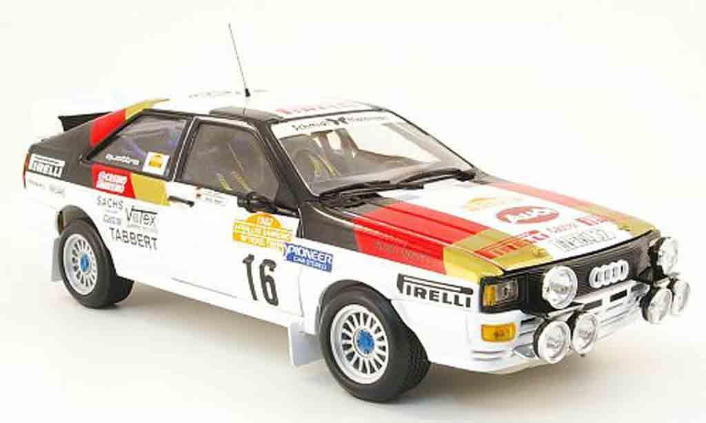 Audi Quattro Rallye 1/18 Sun Star no.16 pirelli san remo 1982 miniature