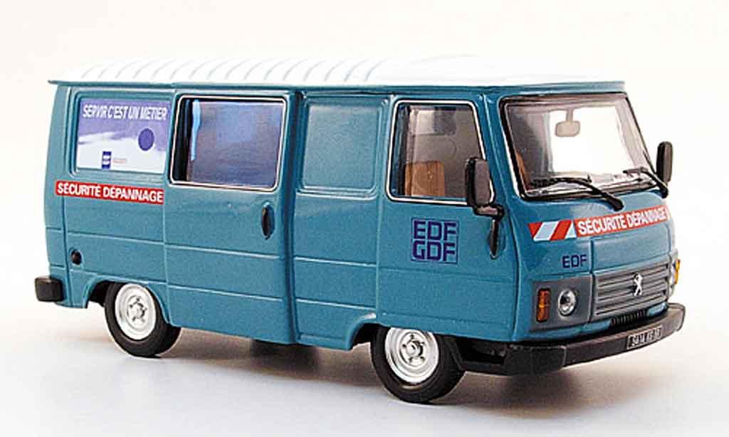 Peugeot J9 1/43 Norev edf gdf sicherheitsdienst 1982 modellautos