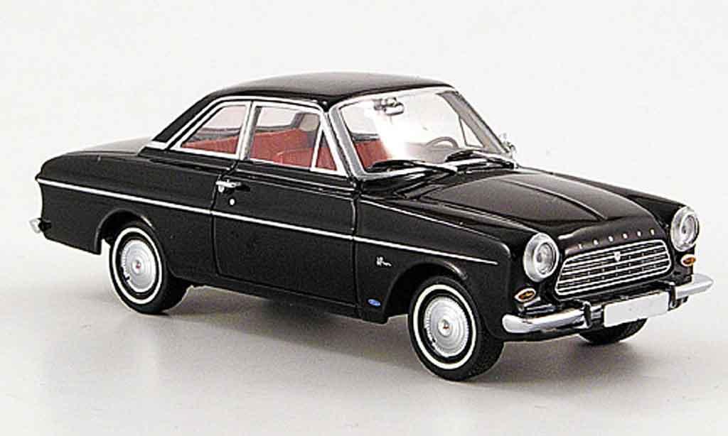 Ford Taunus 1962 1/43 Minichamps 12 M (P 4) Coupe noire miniature