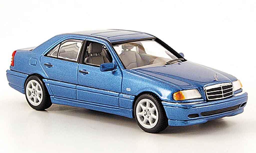 mercedes classe c miniature w 202 bleu 1997 minichamps 1 43 voiture. Black Bedroom Furniture Sets. Home Design Ideas