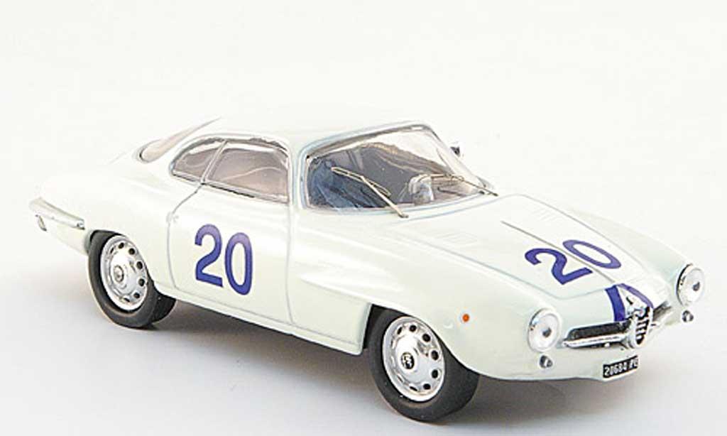 Alfa Romeo Giulietta 1/43 M4 SS No.20 Bosco/Bevilacqua Targa Flori 1961 miniature