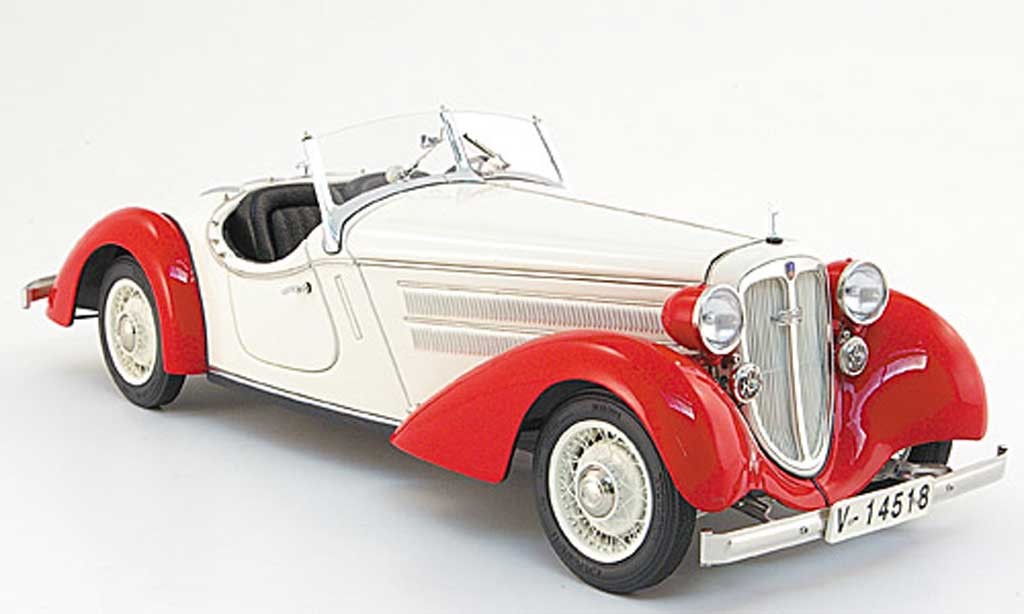 Audi 225 1/18 CMC front roadster rouge/blanche 1935 miniature