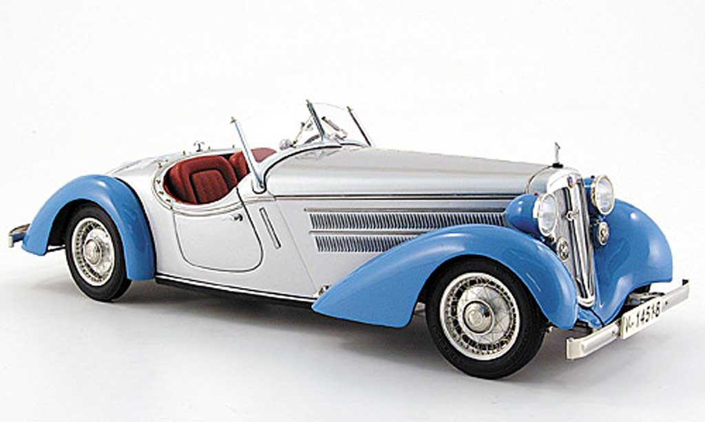 Audi 225 Front Roadster Blue Gray 1935 Cmc Diecast Model