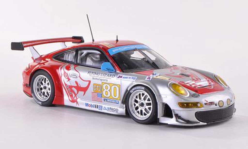 Porsche 997 GT3 RSR 1/43 Minichamps 2009 No.80 Flying Lizard 24h Le Mans Bergmeister/Neiman/Law diecast model cars