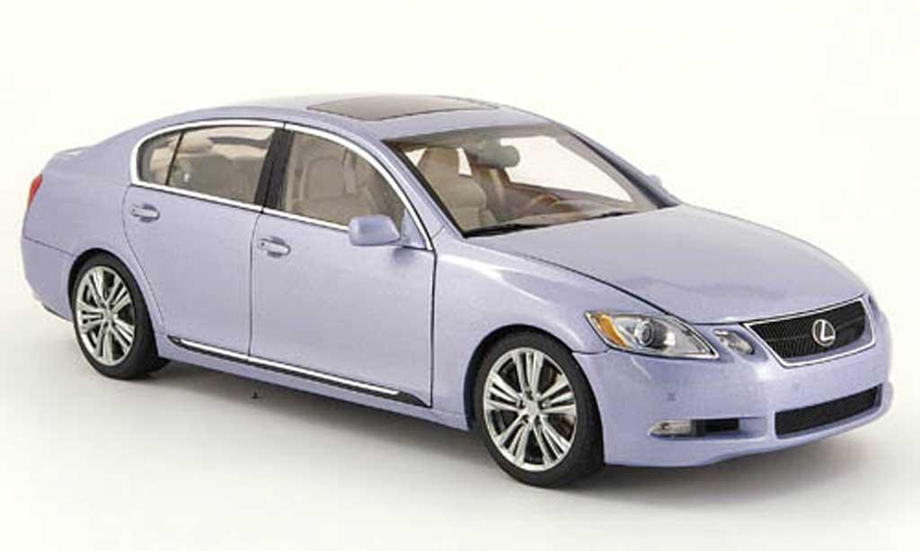 Lexus GS 450 1/18 Autoart h grise bleu miniature