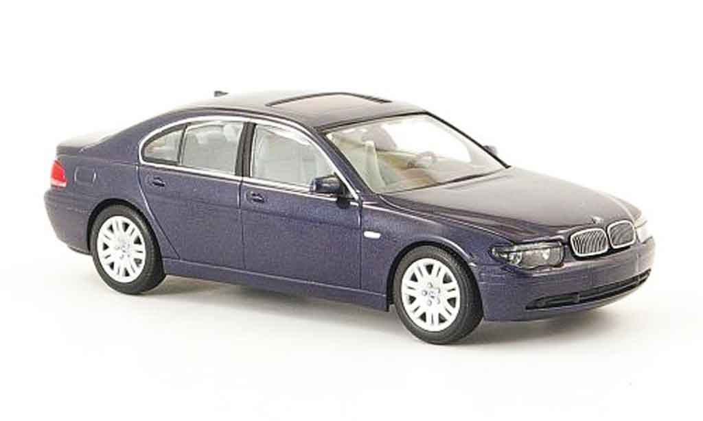 Bmw 735 E65 1/43 Minichamps i bleu grey 2001 diecast model cars