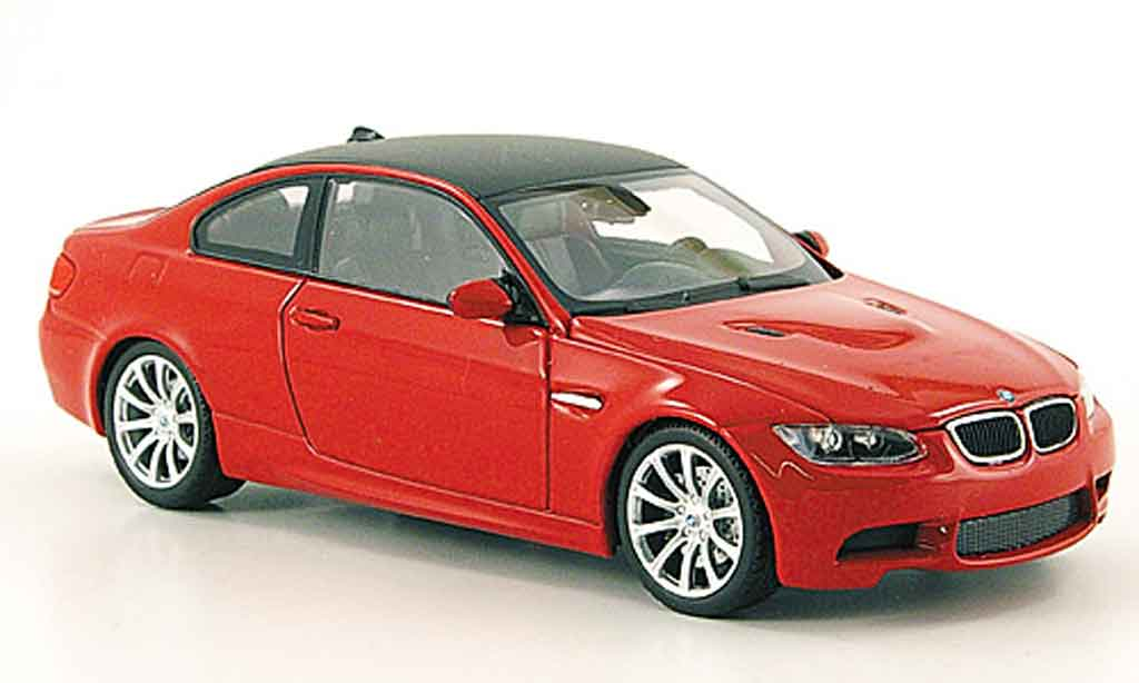 Bmw M3 E92 1/43 Minichamps red 2007 diecast model cars