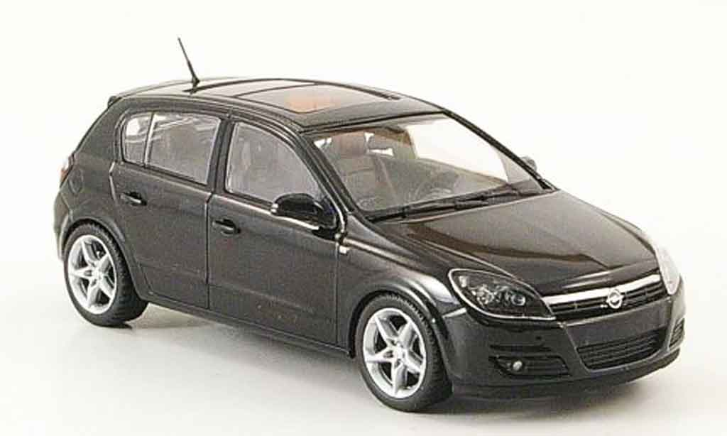 Opel Astra 1/43 Minichamps h noire 5 turig 2004 miniature