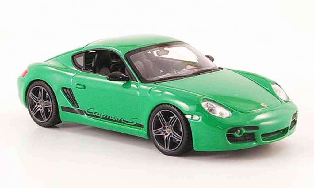 Porsche Cayman S 1/43 Minichamps grun 2008 miniature