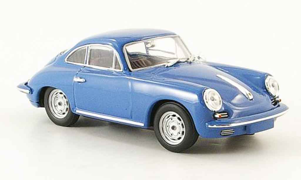 Porsche 356 1963 1/43 Minichamps C Carrera 2 bleu diecast model cars