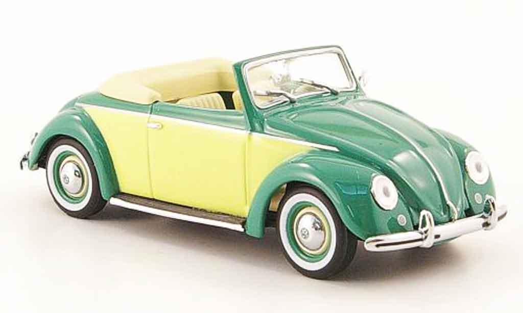 Volkswagen Coccinelle 1/43 Minichamps hebmuller cabriolet verte jaune 1949 miniature