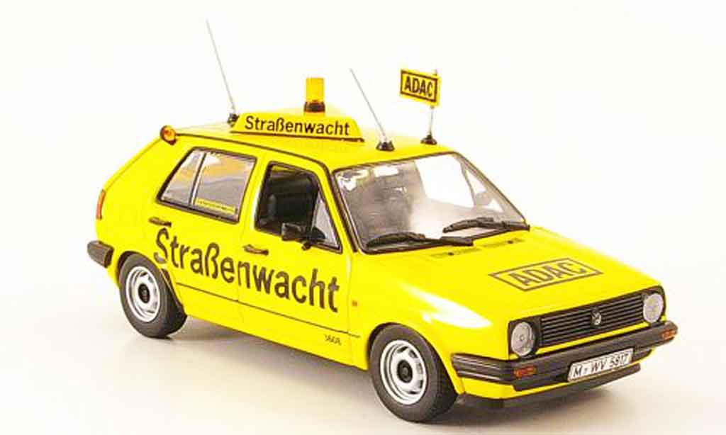 Volkswagen Golf 2 1/43 Minichamps yellow adac 1985 diecast