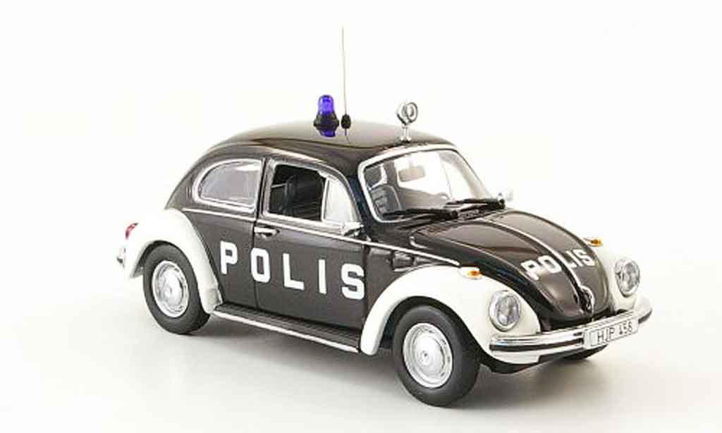 Volkswagen Coccinelle 1/43 Minichamps 1303 polis 1973 miniature