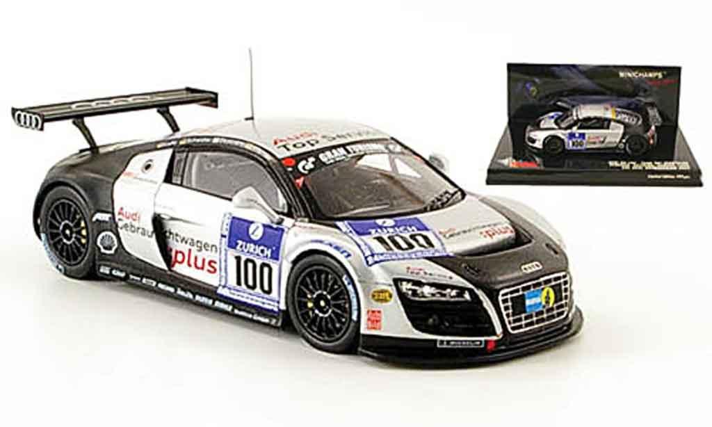 Audi R8 2009 1/43 Minichamps LMS No.100 Top Service 24h Nurburgring miniature