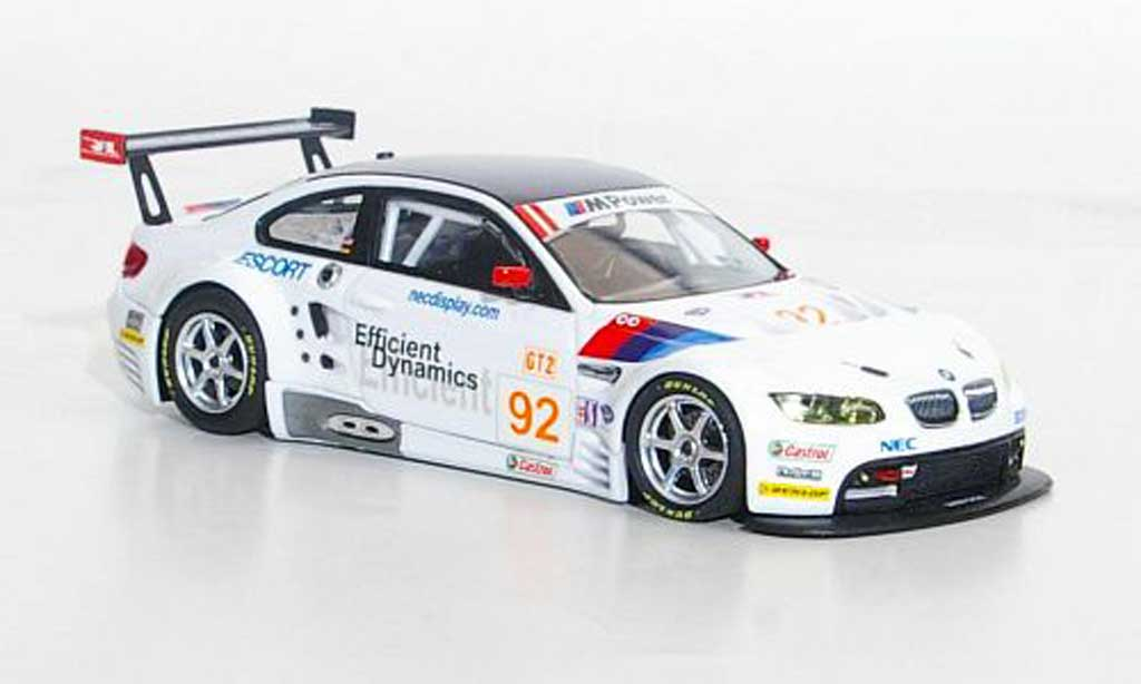 Bmw M3 E92 1/43 Minichamps GT2 No.92 Rahal Letterman Racing ALMS 2009