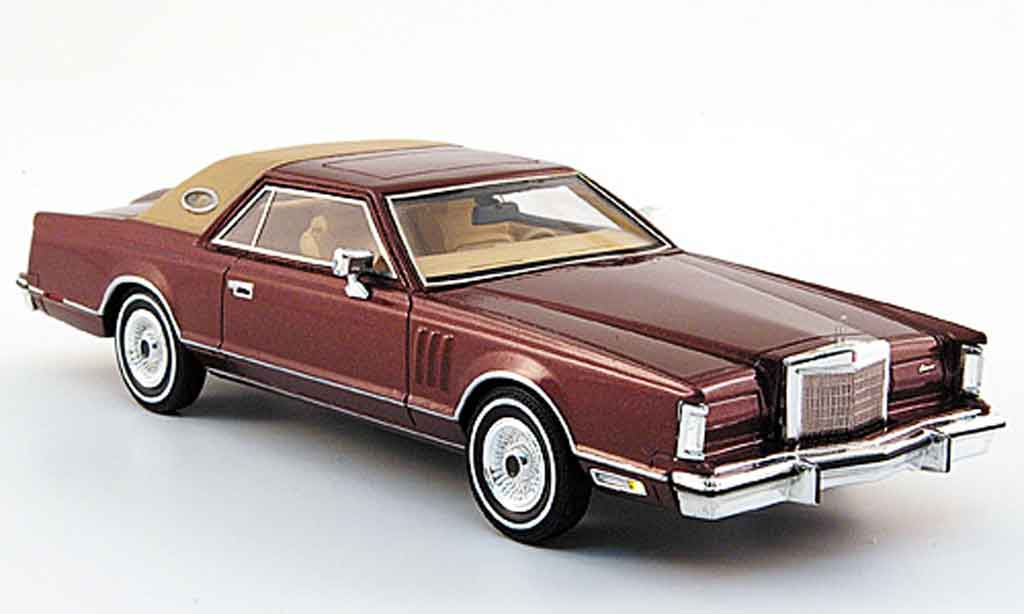 Lincoln Continental 1979 1/43 Premium X MK V rouge miniature