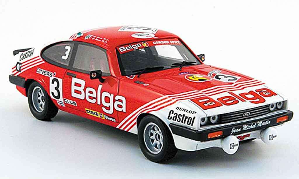 Ford Capri 1/43 Premium X MK III 3.0 S No.3 Belga 24h Spa 1980 miniature
