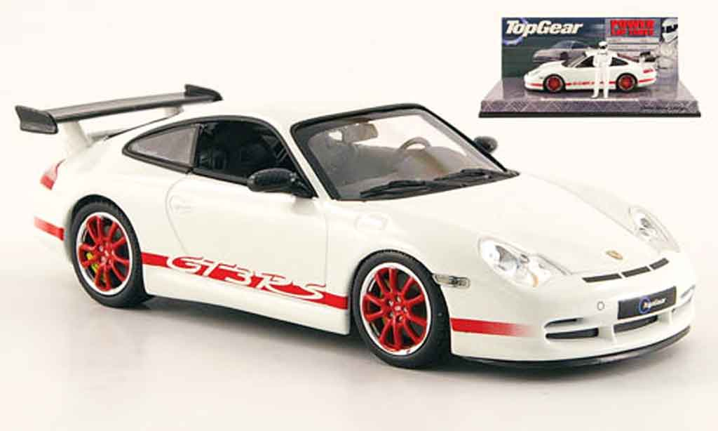 Porsche 996 GT3 RS 1/43 Minichamps white avec Figur The Stig diecast model cars