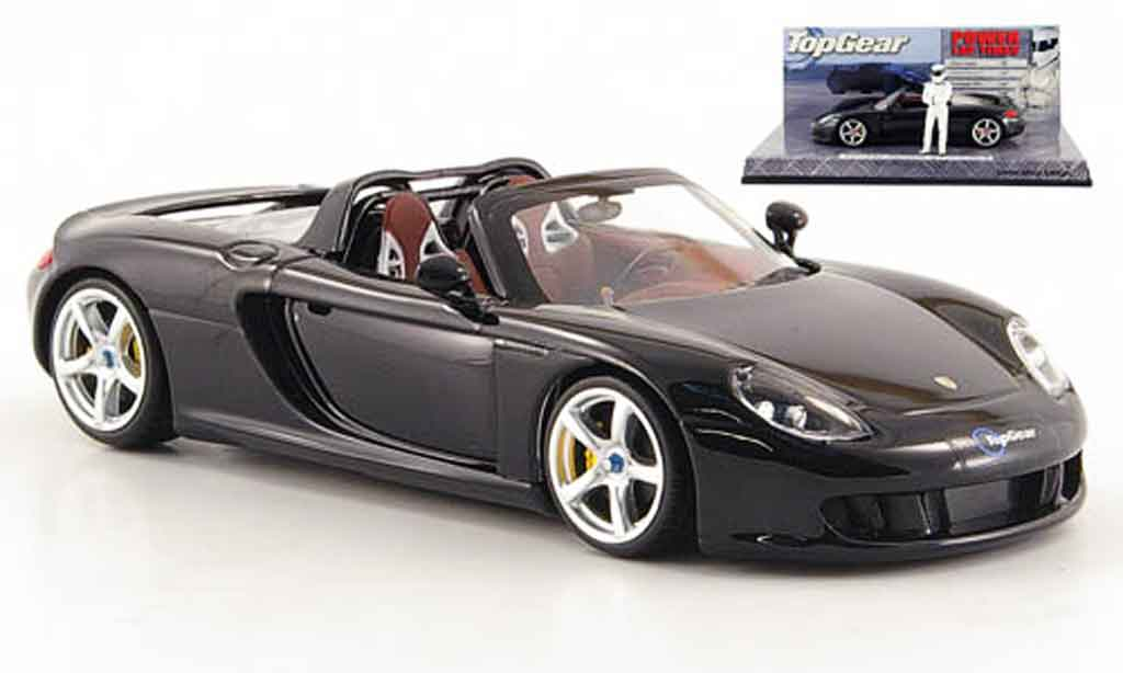 Porsche Carrera GT 1/43 Minichamps black avec Figur The Stig diecast model cars