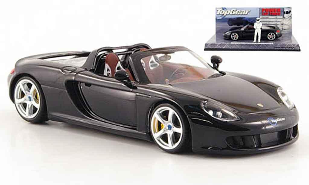 Porsche Carrera GT 1/43 Minichamps noire avec Figur The Stig miniature