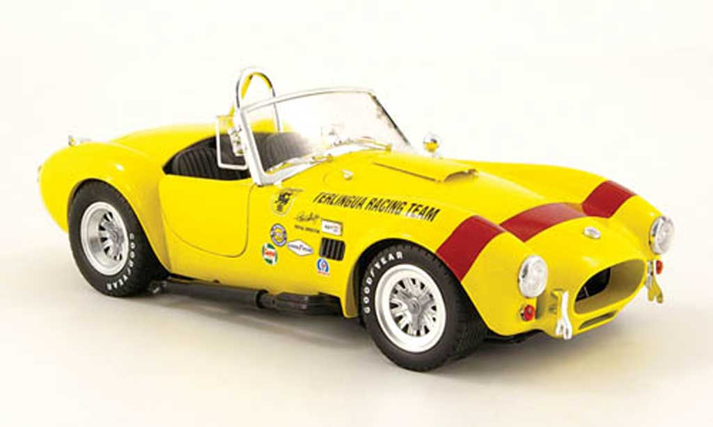 Shelby Ac Cobra 1/18 Shelby Collectibles 427 s c jaune terlingua racing team 1965 miniature
