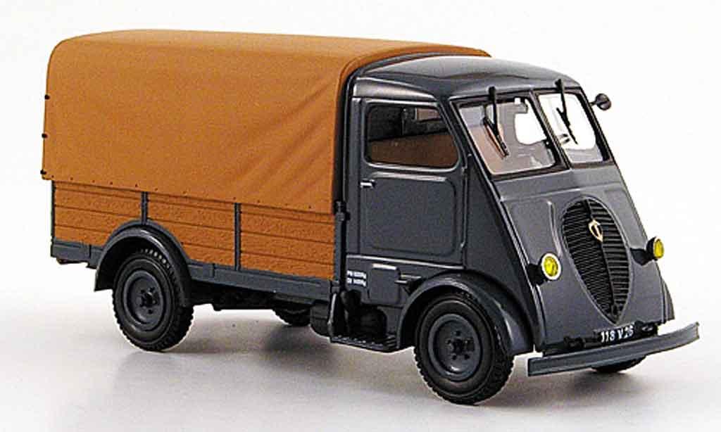 Peugeot Q3A 1/43 Norev bache grise marron 1952 miniature