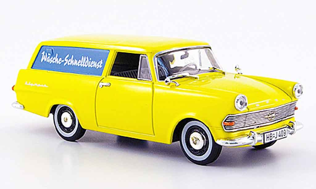 Opel Rekord 1/43 Starline p 2 caravan jaune wasche schnelldienst 1960