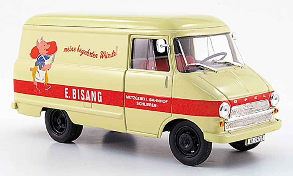 Opel Blitz 1/43 Starline kastenwagen a beige metzgerei bisang 1960 miniature