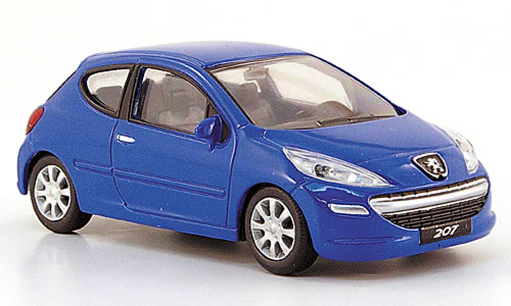 Peugeot 207 1/43 Mondo Motors bleu 3-turig miniature