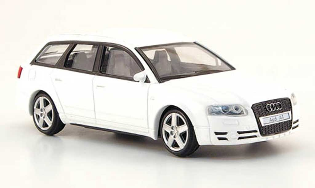 audi a4 avant miniature blanche mondo motors 1 43 voiture. Black Bedroom Furniture Sets. Home Design Ideas