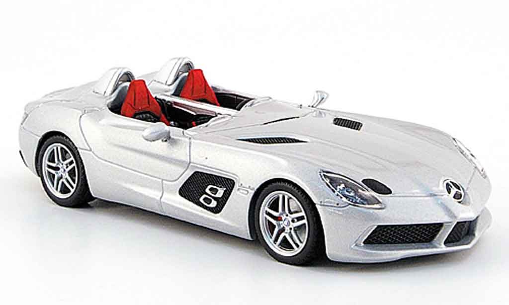 Mercedes SLR 1/43 Minichamps McLaren Stirling Moss (Z 199) grise metallisee 2009 miniature