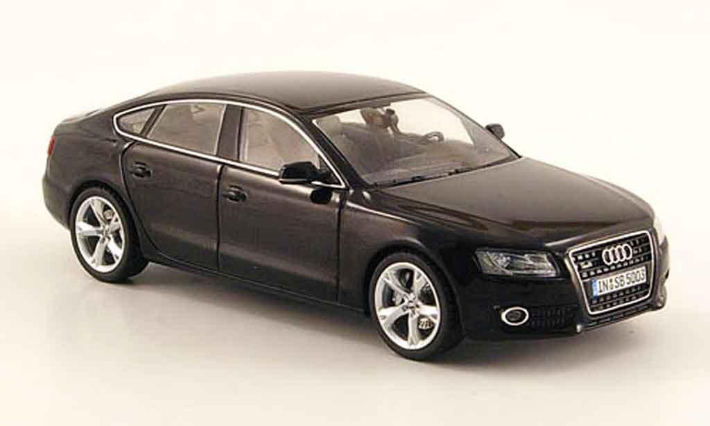 Audi A5 1/43 Schuco Sportback noire 2009 miniature