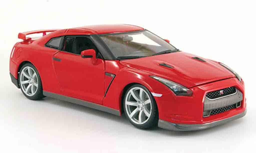 Nissan Skyline R35 1/18 Burago gt-r rosso 2009 miniatura