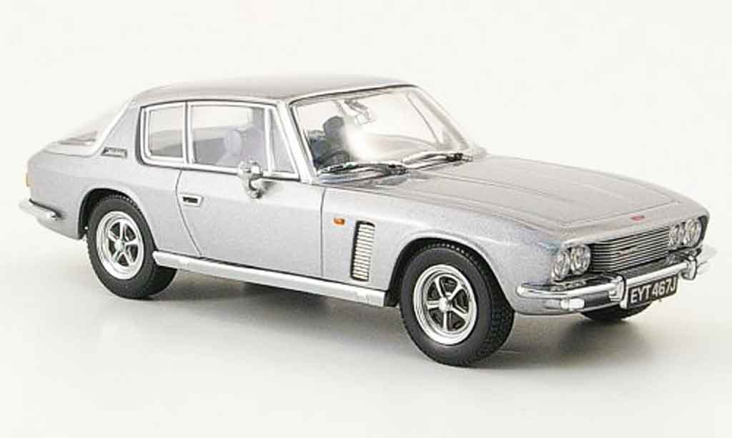 Jensen MK2 1/43 Oxford Interceptor grise metallisee miniature
