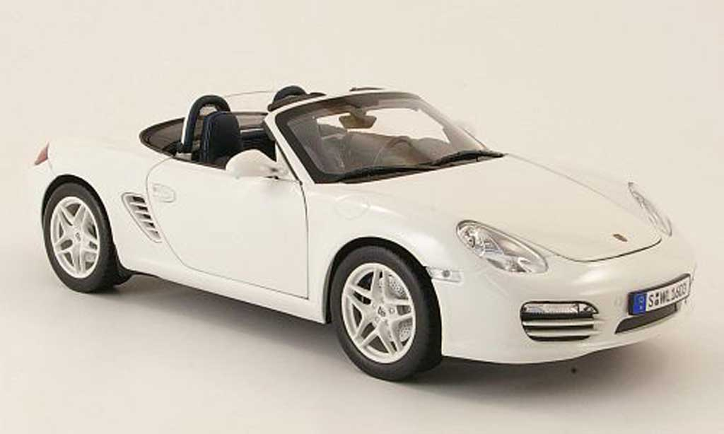 porsche boxster weiss 2009 norev modellauto 1 18 kaufen verkauf modellauto online. Black Bedroom Furniture Sets. Home Design Ideas