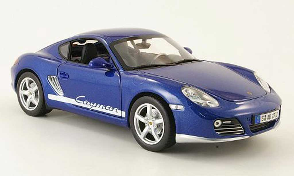 Porsche Cayman 1/18 Yat Ming bleu 2009 miniature