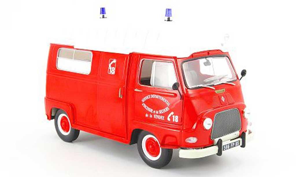Renault Estafette 1/18 Norev pompier service departemental dincendie et de secours 1968 miniature