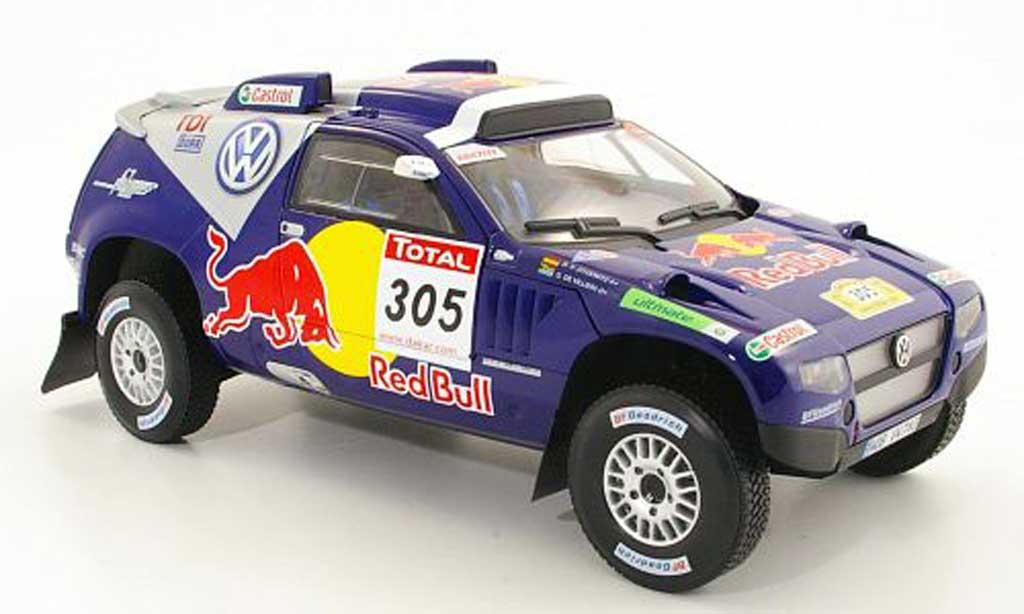 Volkswagen Touareg 1/18 Norev Race No.305 Red Bull Rally Dakar 2009 G.De Villiers / D.Von Zitzewitz miniature
