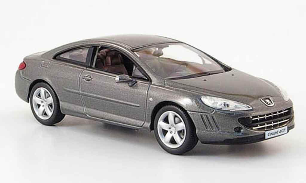 peugeot 407 coupe miniature grise 2008 norev 1 43 voiture. Black Bedroom Furniture Sets. Home Design Ideas