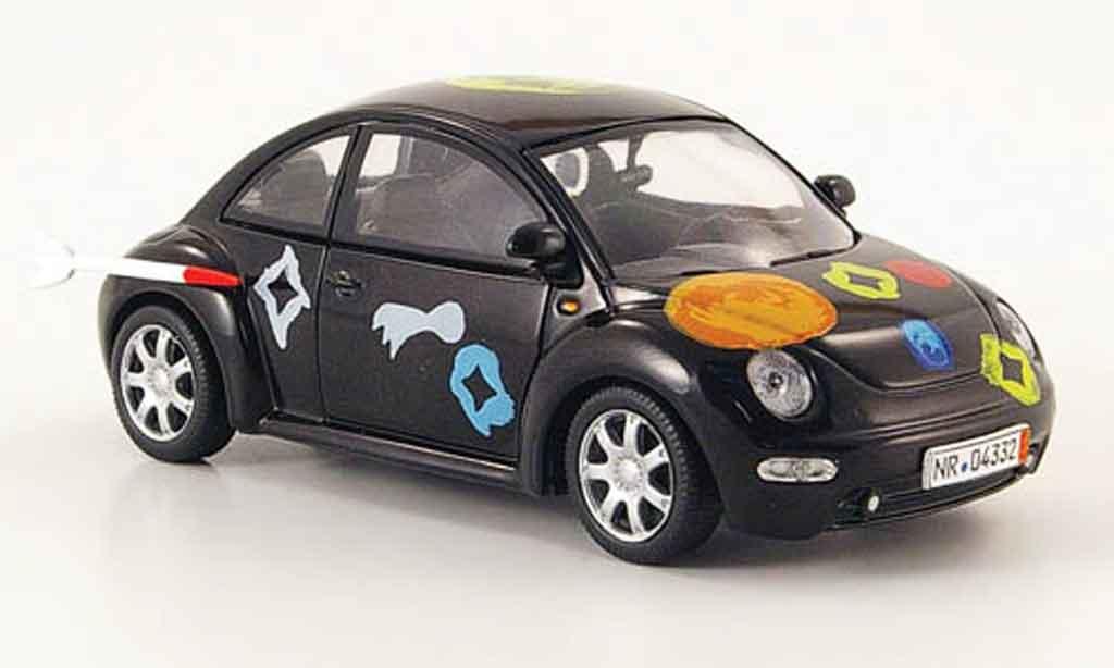 Volkswagen New Beetle 1/43 Schuco noire die ludolfs miniature