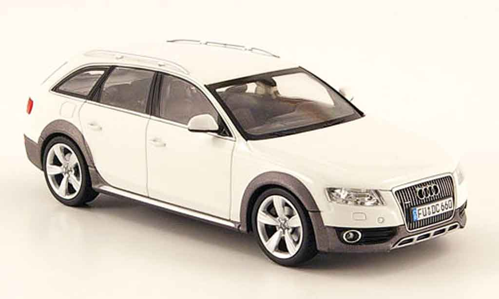 audi a4 miniature allroad blanche 2009 schuco 1 43 voiture. Black Bedroom Furniture Sets. Home Design Ideas