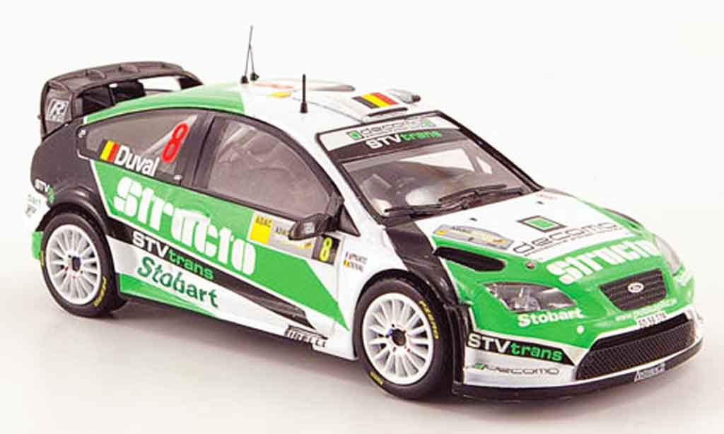 Ford Focus RS WRC 1/43 ixo 07 No.8 Structo Rally Deutschland 2008 miniature