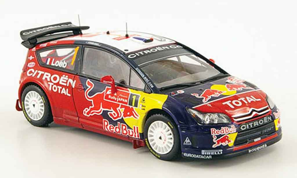 Citroen C4 WRC 2008 1/43 ixo no.1 red bull rallye japan miniature