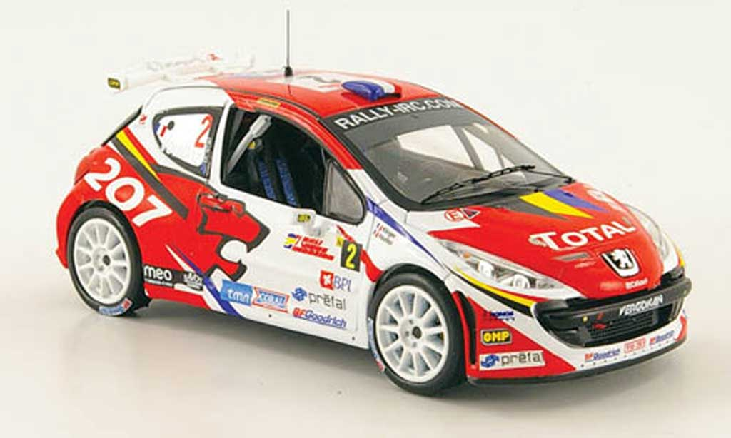 Peugeot 207 S2000 1/43 IXO No.2 Total Sieger Rally Madeira 2008 miniature