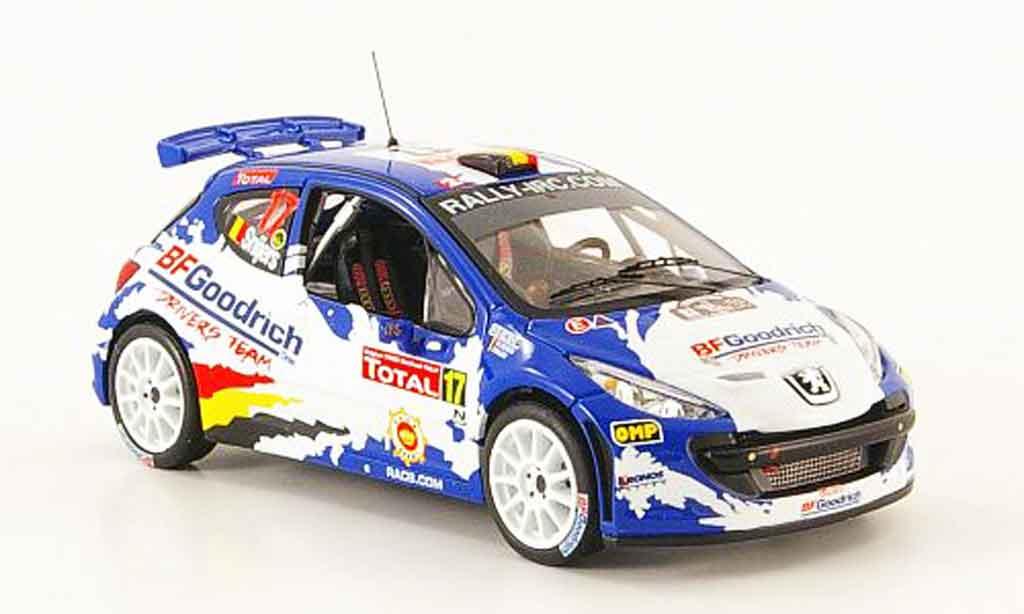 Peugeot 207 S2000 1/43 IXO no.17 bf goodrich rallye zypern 2008 miniature