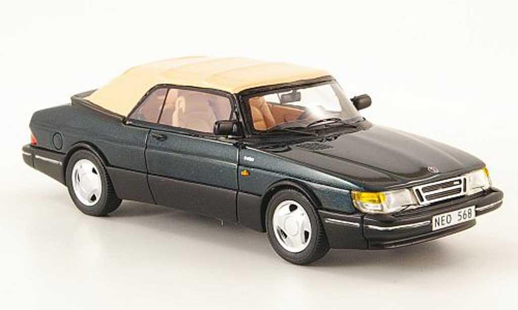 Saab 900 1987 1/43 Neo cabriolet vert ferme miniature