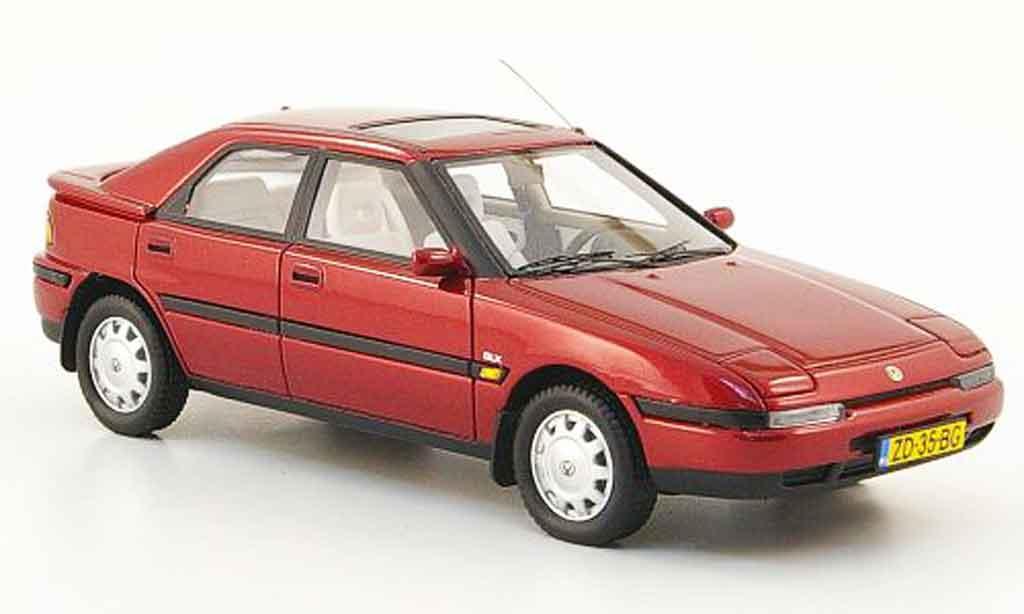 mazda 323 miniature f rouge 1992 neo 1 43 voiture. Black Bedroom Furniture Sets. Home Design Ideas
