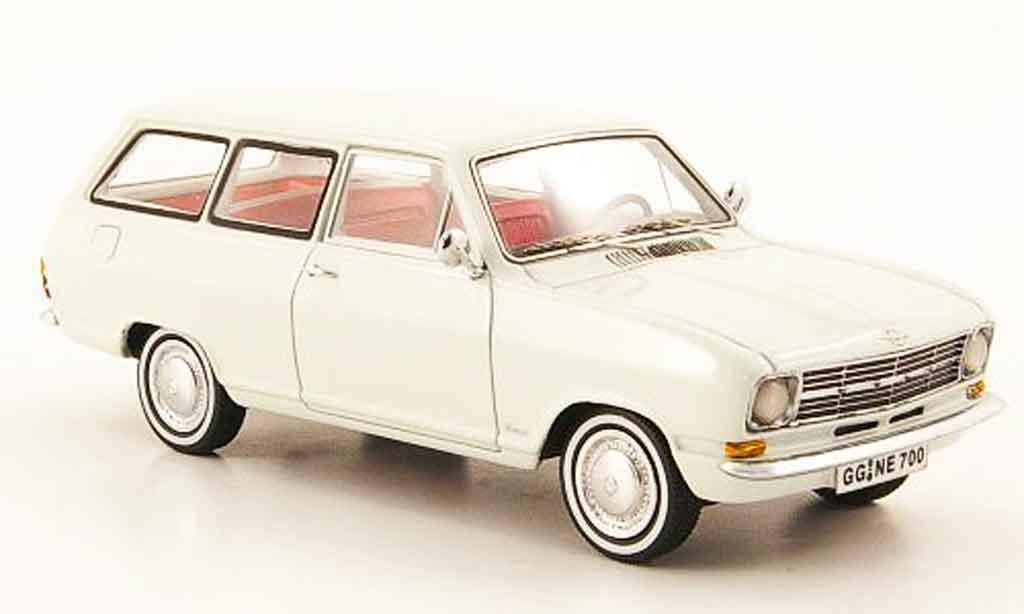 Opel Kadett B 1/43 Neo caravan blanche 1971 miniature