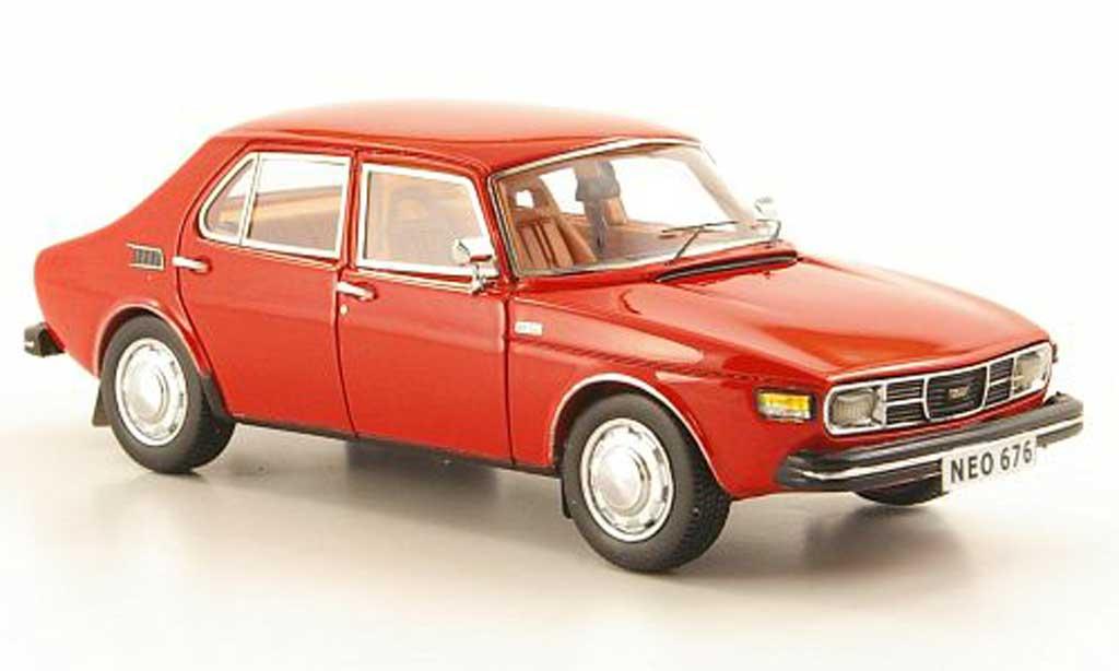 Saab 99 1/43 Neo rouge miniature