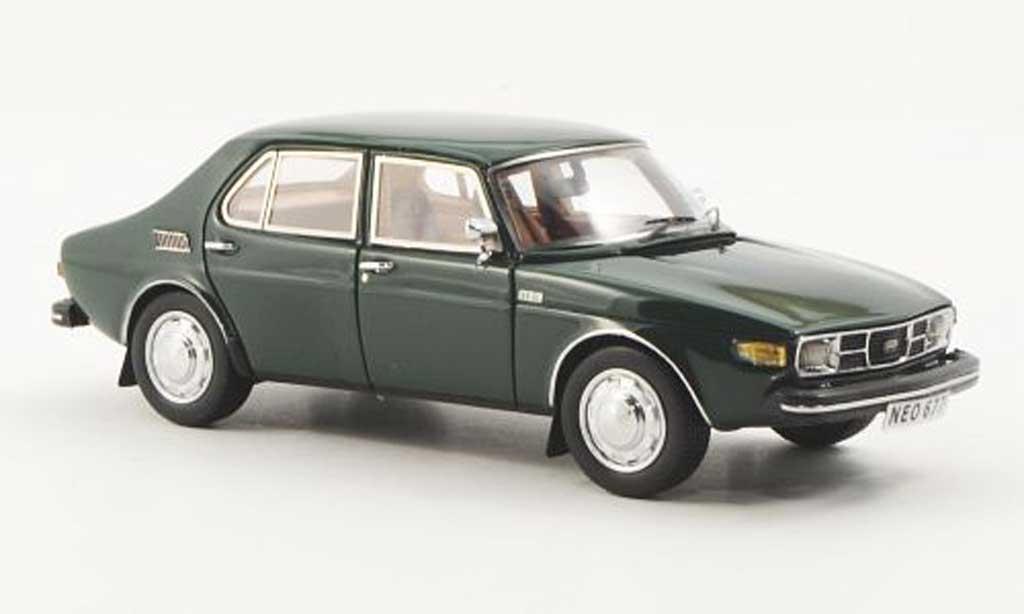 Saab 99 1/43 Neo grun 4-turig miniature